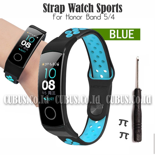Foto Produk Costa Strap Watch Sports For Honor Band 5/4 - Blue dari Cubus_Co_ID