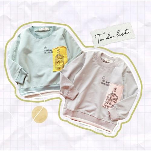 Foto Produk ForBaby AB3 baju sweater BIRD CAGE baju anak oblong atasan blus pjg dari Crowsfow