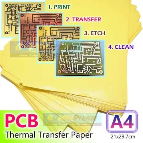 Foto Produk Kertas Transfer PCB A4 Kuning Jalur Papan Heat Thermal Print Toner dari VISITEK