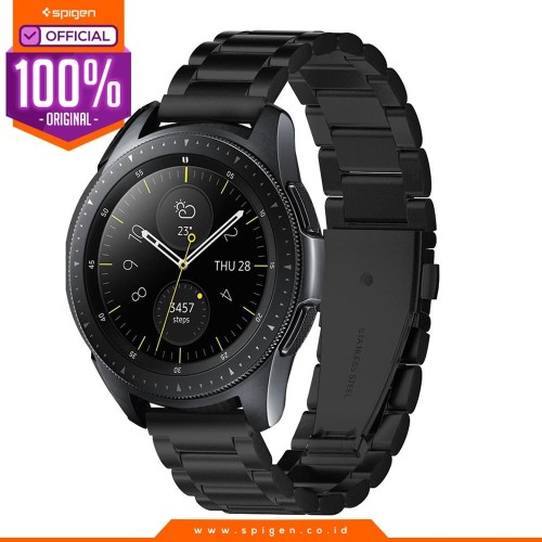Foto Produk Stainless Steel Strap Galaxy Watch 42mm Spigen Band Modern Fit (20mm) - Hitam dari Spigen Official