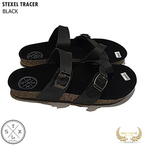 Foto Produk STEXEL TRACER Sandal Pria Casual Handmade Premium - Hitam, 39 dari STEXEL OFFICIAL