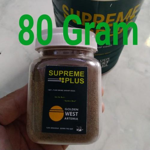 Foto Produk Artemia SUPREME PLUS GOLDEN WEST repack 80 gram. ASLI 100% dari Sun'Z motor
