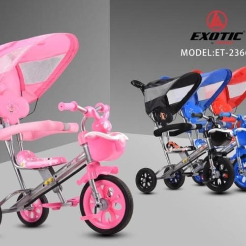 Foto Produk Sepeda Anak Roda Tiga Exotic ET 1256-7-8 Tricycle BMX Musik kanopi dari cinhin jaya cycle shop