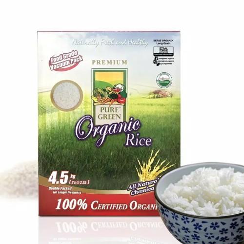 Foto Produk Puregreen Organic Rice Beras Organik White Long Grain 4,5 kg dari Puregreen Official Store