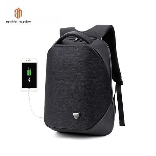 """Foto Produk ARCTIC HUNTER B00193 Backpack Bag USB 15.6"""" - Tas Ransel Laptop BLACK dari ARCTIC HUNTER"""