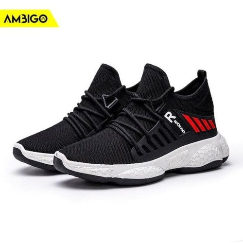 Foto Produk Sepatu Sneakers Olahraga Pria Ambigo Inferno JKT71 Running Shoes - Hitam, 40 dari Jagonya Case