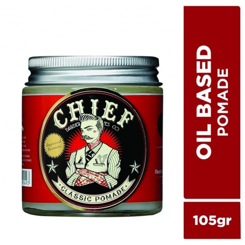 Foto Produk CHIEF POMADE OIL BASED 105GR GLASS JAR dari CHIEF OFFICIAL STORE