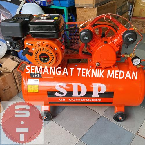 Foto Produk 1HP KOMPRESSOR KOMPRESOR UDARA ANGIN TANGKI 1 HP + BENSIN VITARA SDP dari Semangat Teknik