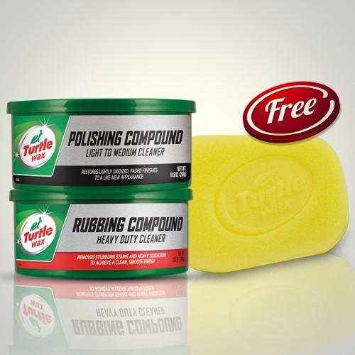Foto Produk Turtle Wax BUNDLE Polishing Dan Rubbing Compound Pasta Free Spons dari Turtle Wax
