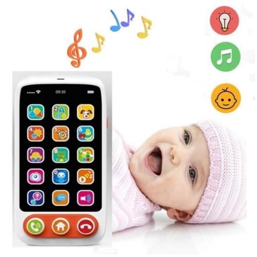 Foto Produk Mainan HP Bayi Edukasi| HP mainan | Telepon Mainan | Baby Phone HE8001 dari EAZYTOYS