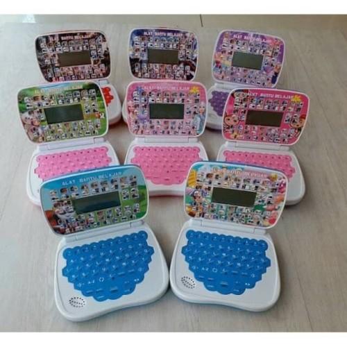 Foto Produk mainan anak edukasi laptop mini 2 bahasa + layar - laki-laki dari EAZYTOYS