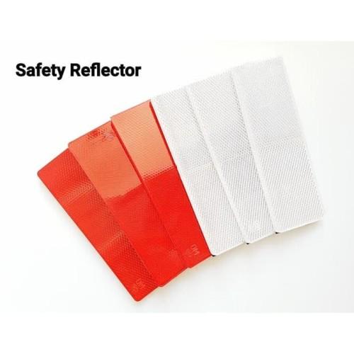 Foto Produk Stiker Plat Reflector Reflektor Lampu Mata Kucing Motor Mobil Sepeda - Merah dari lbagstore