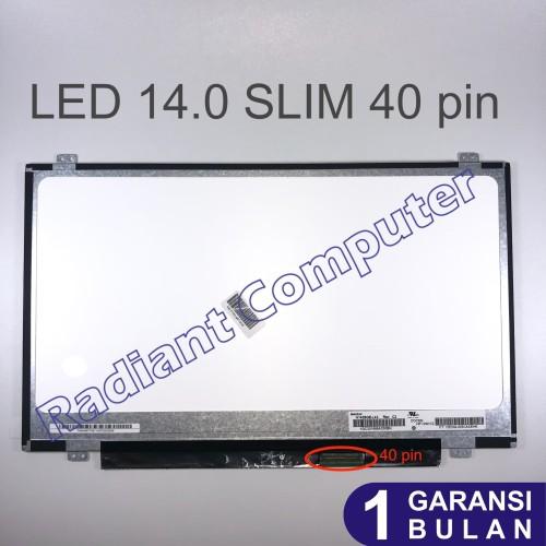 Foto Produk LCD LED 14.0 Slim 40pin Asus X450 X453 X453M X453MA X453S X453SA dari Radiant Komputer