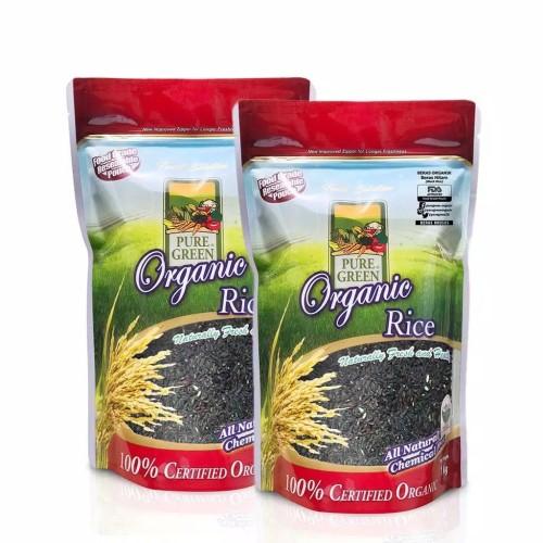 Foto Produk Puregreen Organic Rice Beras Organik Beras Hitam - Paket 2 x 1 kg dari Puregreen Official Store