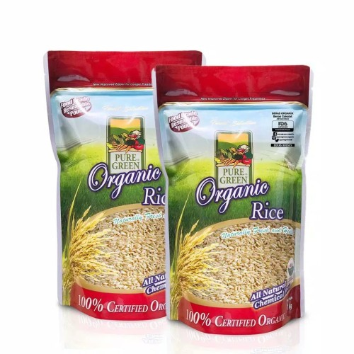 Foto Produk Puregreen Organic Rice Beras Organik Beras Coklat - Paket 2 x 1 kg dari Puregreen Official Store