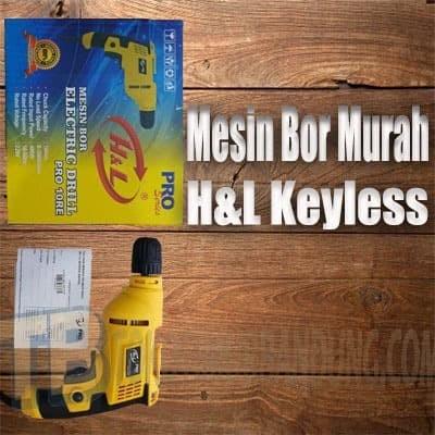 Foto Produk Mesin Bor Listrik H&L Keyless Pro 10RE Series 10mm dari Toko Timur Bandung