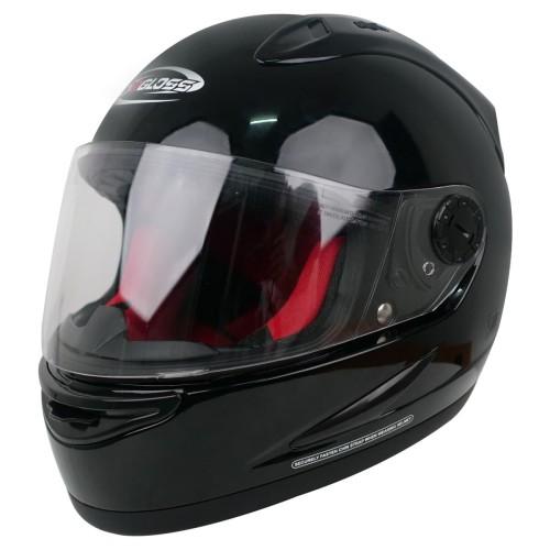 Foto Produk Helm Cargloss Racer Horn Helm Full Face - Deep Black - All Size dari Helm Cargloss