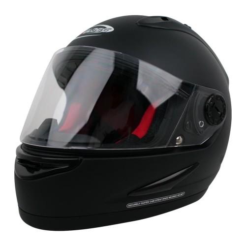 Foto Produk Helm Cargloss Racer Horn Helm Full Face - Black Doff - All Size dari Helm Cargloss