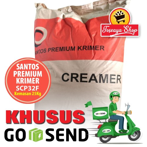 Foto Produk Krimer/Creamer Santos Premium SCP32F 1 Sak GoSend/GrabExpress dari Toseaya Shop
