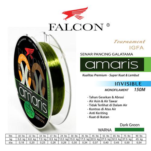 Foto Produk Senar Pancing Falcon AMARIS 150 Meter / GALATAMA - 0.18mm dari Falcon Indoesia