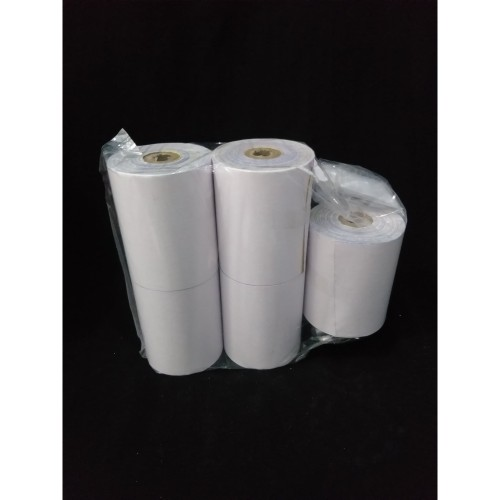 Foto Produk KERTAS NCR STRUK KASIR 75x65mm PAPER ROLL (3 Ply) dari Markaz Media
