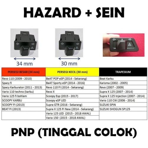 Foto Produk Switch Hazard Sein Saklar Sen Riting Vario Beat Scoopy Revo Supra - 34mm dari variaLED