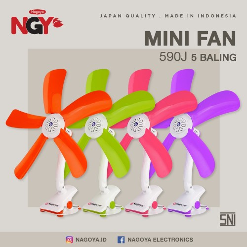 Foto Produk Kipas Angin Jepit NAGOYA (Mini Fan) 5 Baling - NG590J dari Nagoya Electronics