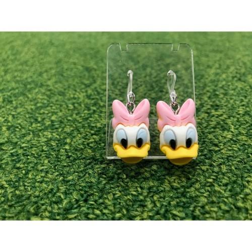 Foto Produk Anting Deasy Duck Head Resin Handmade kait plastik Disney Earring Desi dari Rita Handycraft