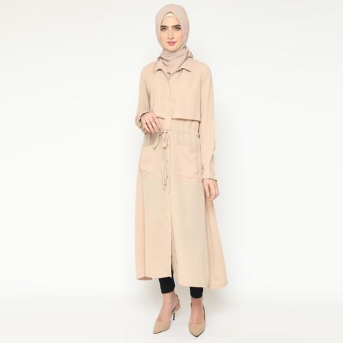 Foto Produk Heaven Sent - Tunik Muslim Wanita Arista Cream - XL dari Heaven Sent Official