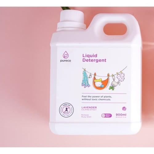 Foto Produk Pureco liquid detergent 900ml refill size / sabun cuci baju bayi dari Endora Care