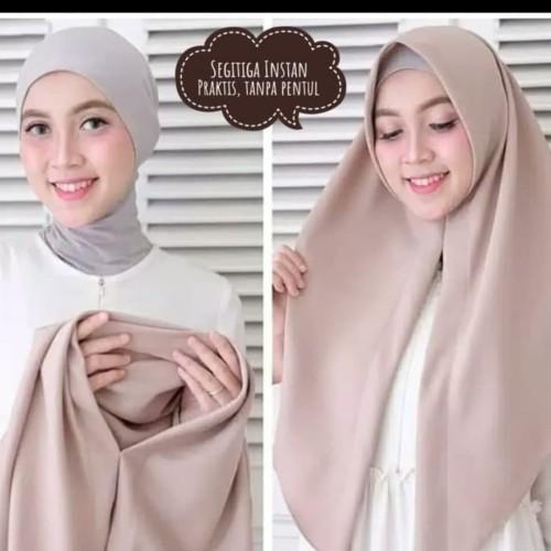 Foto Produk HIJAB KERUDUNG SEGITIGA INSTAN DIAMOND CREPE - Hijau Botol dari Hijab Instant Grosir