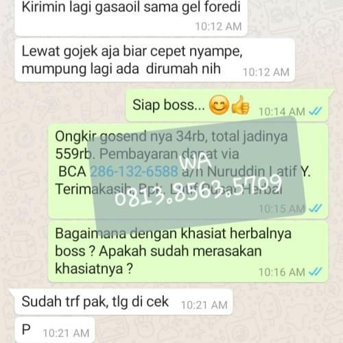 Foto Produk Testimoni Foredi gel pengguna di Jakarta Bogor Depok Tangerang Bekasi dari Pusat-Herbal