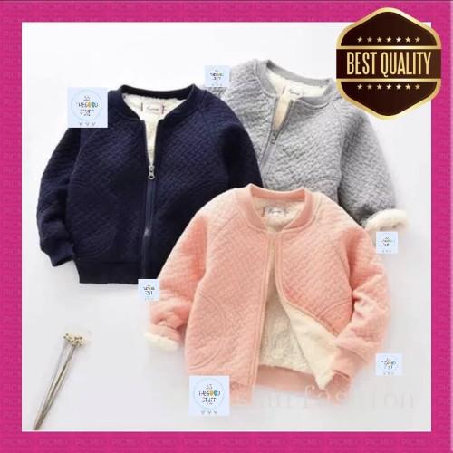 Foto Produk Jaket Hangat Bayi Winter Warm Velvet Sweater Jacket Import! - 2-4 Tahun, Abu-abu dari SS TheGoodStuff