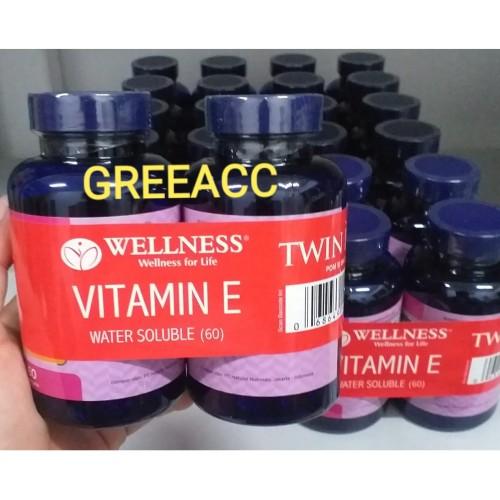 Foto Produk BUY 1 GET 1 Wellness Vitamin E 400iu Water Soluble 60 Vit E 400 iu i.u dari Greeacc