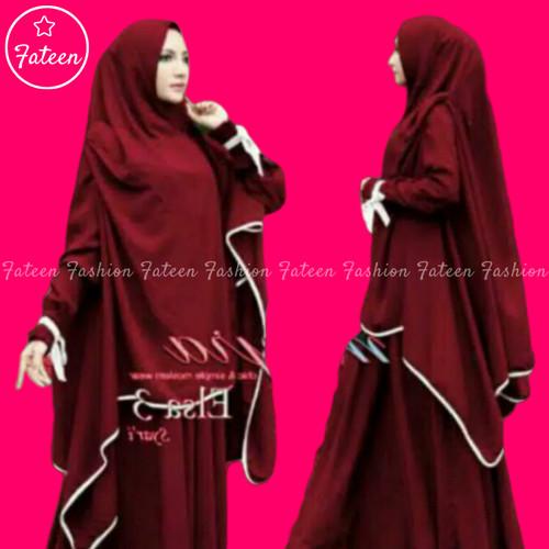 Foto Produk Baju Gamis Set Syari 309- Gamis Syari 309 - maroon, M dari Fateen Fashion