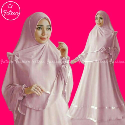 Foto Produk Baju Gamis Set Syari 303- Gamis Syari Terbaru 303 - Hitam dari Fateen Fashion