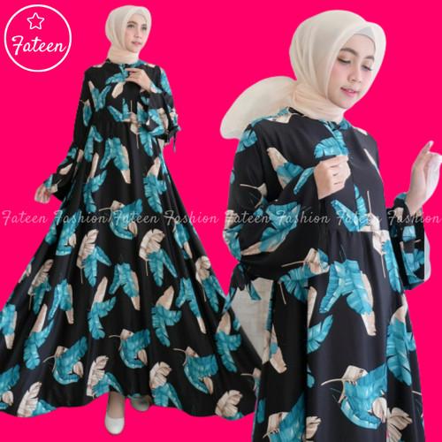 Foto Produk Baju Gamis Wanita Syari 408- Gamis Muslimah Modern 408 - Hitam dari Fateen Fashion