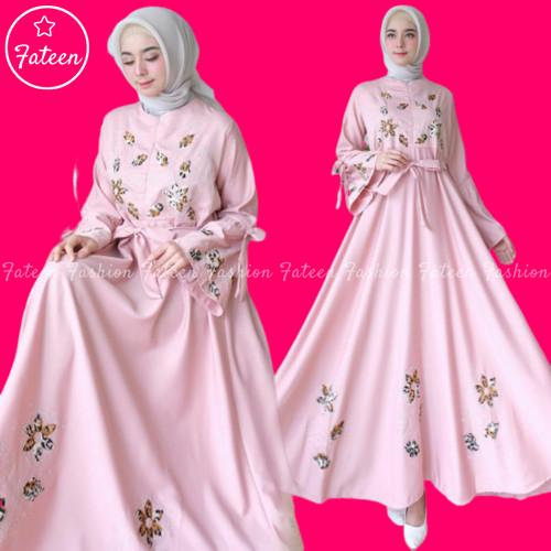 Foto Produk Baju Gamis Wanita 400- Gamis Syari Terbaru 400 - Navy dari Fateen Fashion