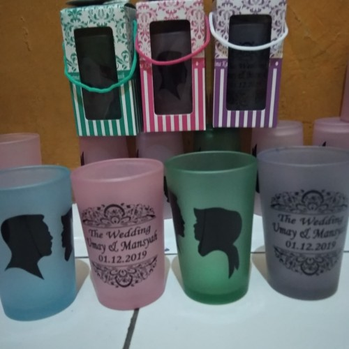 Foto Produk souvernir gelas/souvenir murah/souvenir pernikahan dari purmata souvenir