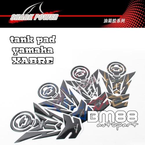 Foto Produk Tank Pad Set ( Tankpad + Fuelpad ) Yamaha Xabre Motif - SHARK POWER dari BarokahMotor88