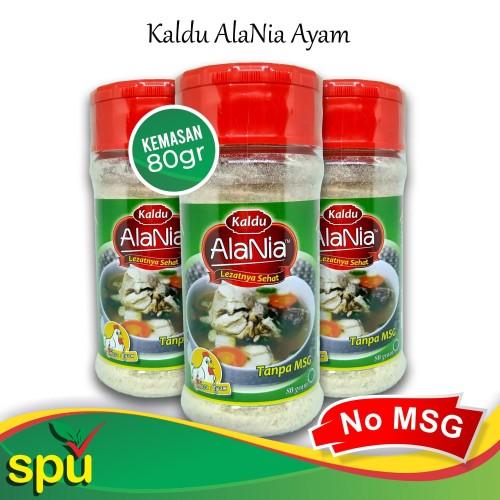 Foto Produk Kaldu AlaNia Ayam 80gr - Kaldu Sehat Non MSG - Kaldu MPASI dari SPU Official