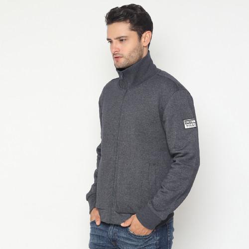 Foto Produk Jaket Unisex Pin&Fit- Pin&Fit Jaket Full Zipper Man (Unisex) - CHARCOAL GREY, XL dari Millenia