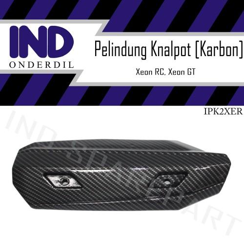 Foto Produk Cover Tutup-Penutup Pelindung Knalpot Xeon 125 RC-GT Karbon-Carbon dari IND Onderdil