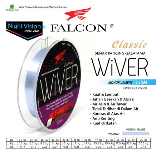 Foto Produk Senar Pancing Falcon WIVER 150 Meter / GALATAMA - 0.17mm 11lb dari Falcon Indoesia