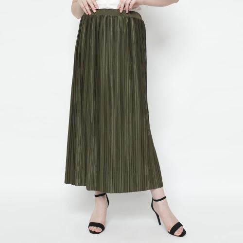 Foto Produk Eiza by duapola Plisket Pipe Maxi Skirt 78188 - Green Army dari Eiza