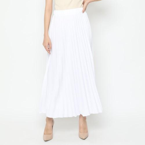 Foto Produk Eiza by duapola Plisket Aline Maxi Skirt 7176 - White dari Eiza