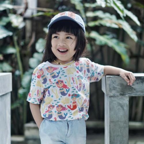Foto Produk Kaos Anak Perempuan|L086 - Little Mermaid - SMALL dari Little Jergio