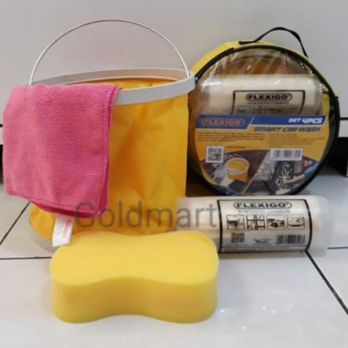 Foto Produk Peralatan Cuci Mobil Set 4pcs / Flexigo Smart Car Wash dari Gold-Mart