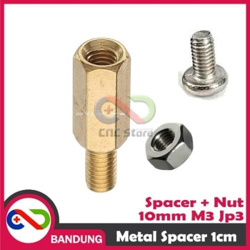 Foto Produk [CNC] SPACER PCB METAL SPACER LOGAM SPACER COPPER 10MM X 3MM 3M dari CNC STORE BANDUNG