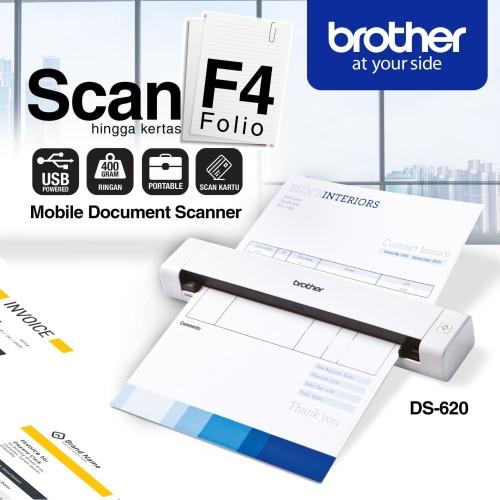 Foto Produk Brother Scanner Portable DS-620 Mobile Color Page DS620 Mesin Scanner dari HargaMurah-COM